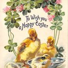 To Wish you a Happy Easter - Embossed Tuck (A132)