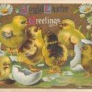 Joyful Greetings -1910 Embossed (A136)