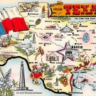 Texas Greetings - Map Postcard (A376)