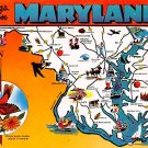 Maryland Greetings - Map Postcard (A381)