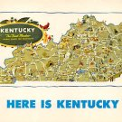Here Is Kentucky - Map Postcard (A390)