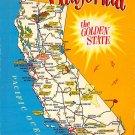 California - Map Postcard (A392)