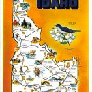 Idaho Greetings - Map Postcard (A394)