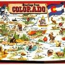 Colorado Centenial State - Map Postcard (A397)