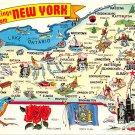 New York Greetings - Map Postcard (A399)
