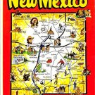 New Mexico Greetings - Map Postcard (A400)