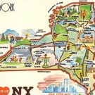 New York - I love NY - Map Postcard (A405)