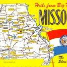 Missouri - Hello from Big Mo ... - Map Postcard (A410)