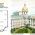 Indiana Greetings From Hoosier State - Map Postcard (A412)