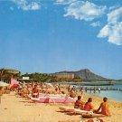 Waikiki, Hawaii 1961 Duke Kahanamoku Beach Postcard (A436)