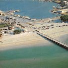 Clearwater Beach, Florida Fishing Pier 1957 Postcard (A438)