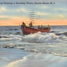 Ocean Grove, New Jersey, NJ Postcard - Fishing Boat 1948 (A487)