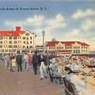 Boardwalk Ocean Grove, New Jersey, NJ Postcard -1943 (A489)