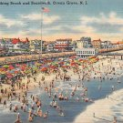 Boardwalk Ocean Grove, New Jersey, NJ Postcard -1944 (A490)