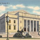 Trenton, NJ Postcard - War Memorial 1948 (A508)