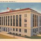 Trenton, NJ Postcard - Post Office Building 1939 (A512)
