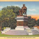 Bridgeport, Conn Postcard - P. T. Barnum Monument 1944 (A591)