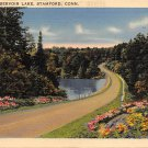 Stamford, Conn, CT Postcard - Reservoir Lake 1942 (A612)