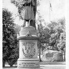 Torrington, Conn, CT Postcard Monument at Coe Park 1943, Cival War  (A621)