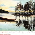 Rockville Conn, CT Postcard Snipsic Lake 1901 (A625)