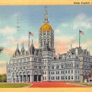 Hartford, Conn, CT Postcard - State Capitol 1948 (A629)