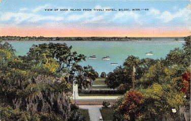 Biloxi, Miss, MS Postcard - Deer Island From Tivoli Hotel (A683)