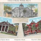 Clarksdale, Miss, MS Postcard - Churches Multi View 1930 (A646)