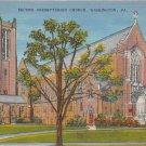 Washington, PA Postcard - Presbyterian Church (A701) Penna, Pennsylvania