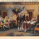 Philadelphia, PA Postcard - Signing Declaration Independence (A703) Penna, Pennsylvania