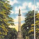 Sunbury, PA Postcard Soldiers Monument (A709) Penna, Pennsylvania