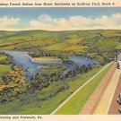 Wyalusing, Towanda, PA Postcard - Rt. 6 (A717) Penna, Pennsylvania