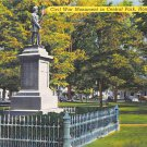 Honesdale, PA Postcard - Civil War Monument, Central Park(A736) Penna, Pennsylvania