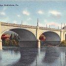 Bethlehem, PA Postcard Hill to Hill Bridge (A744) Penna, Pennsylvania
