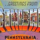 Bethlehem Large Letter Postcard - PA, Penna (A747)