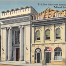 Ashland, PA Postcard Post Office & Citizens National Bank (A756) Penna, Pennsylvania