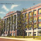 Allentown, PA Postcard Allentown High School (A764) Penna, Pennsylvania