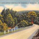 Pocono Mts, PA Postcard Henryville & Tannersville (A770) Penna, Pennsylvania