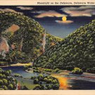 Delaware Water Gap, PA Postcard Moonlight on the Delaware (A771) Penna, Pennsylvania