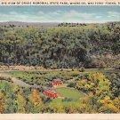 Titusville, PA Postcard Bird's Eye View Drake Memorial State Park 1934 (A773) Penna, Pennsylvania