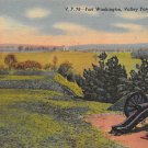 Valley Forge, PA Postcard - Fort Washington, Canon (A779) Penna, Pennsylvania