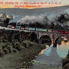 Allegheny Mountains, Md - B & O. R R. Train Postcard (B272) Maryland