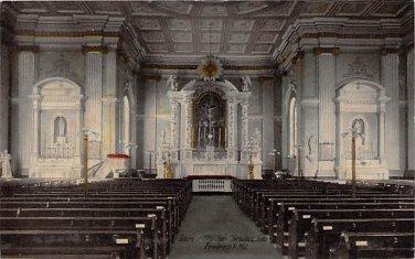 St. John's Church Interior, Frederick,  Md Postcard (B275) Maryland