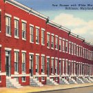 Baltmore, Md Row Houses, White Marble Steps (B310) Maryland