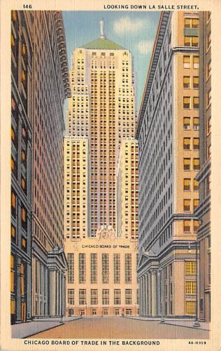 Chicago, Ill Postcard Down La Salle Street (B4) IL, Illinois