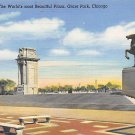 Chicago, Ill Postcard Grant Park (B9) IL, Illinois