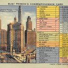Chicago, Ill Postcard Correspondence Card 1942 (B11) IL, Illinois