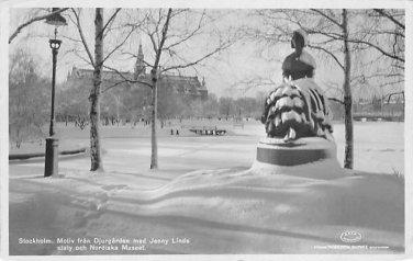 Stockholm, Sweden, Sverige Postcard - Motiv fran Djurgarde med Jenny Linds (B316-317)