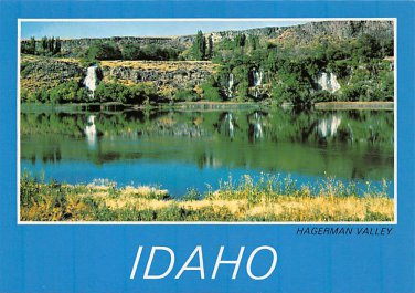 Hagerman Valley, Idaho - Thousand Springs - Continental Postcard (B371)