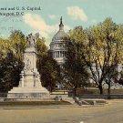Washington, DC Peace Monument, US Capitol Postcard 1912 (B382)