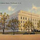 Washington, DC Congressional Library Annex Linen Postcard (B393)